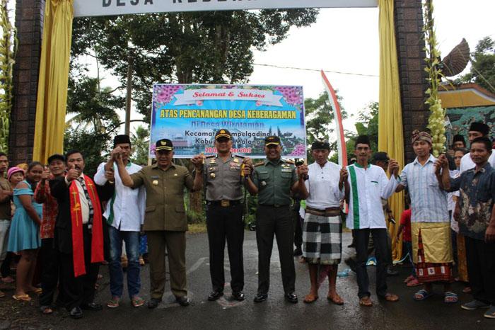 Desa Wirotaman Deklarasi Keberagaman, Wabup Malang Berharap Dipertahankan Demi Kerukunan dan Kedamaian