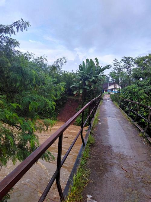 Jembatan Desa Karang Duren, Kecamatan Balung, Jember.