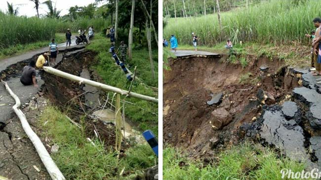 Pasca Tanah Longsor di Desa Bantur, Pemdes dan Muspika Gotong Royong Bangun Jalan Darurat