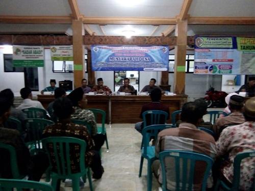 Desa Sadar Tengah melaksanakan Musdes dalam rangka LPJ realisasi APB DES