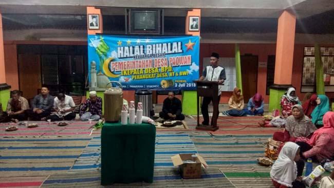 Pererat Silahturahmi, BPD dan Pemdes Paowan Halal Bi Halal