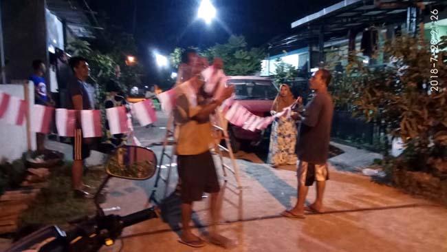 Warga BTB Lakukan Goro Sambut HUT RI ke 73