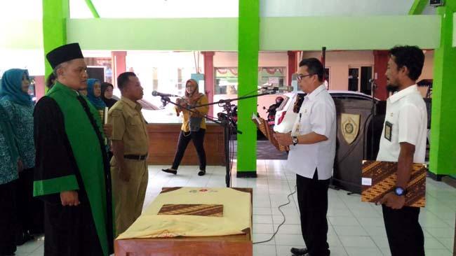 Pj Kades Pejarakan Dilantik Camat Jabon
