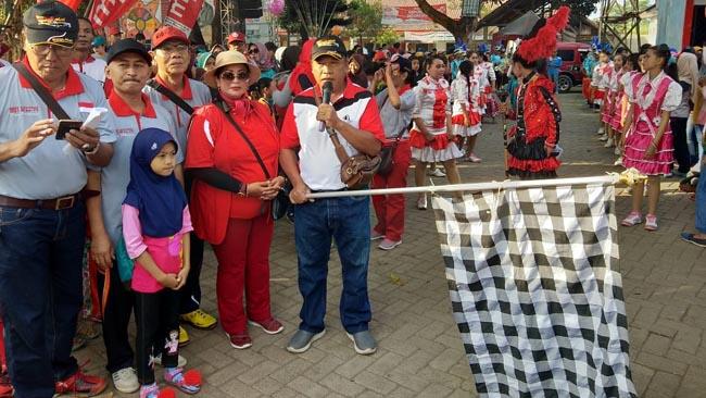 Ribuan warga Sidomekar Ikut Jalan Santai