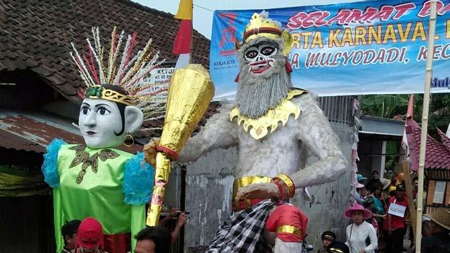 Hanoman Hadir  di Karnaval Desa Mulyodadi