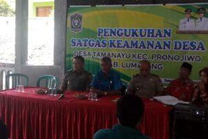 Satgas Keamanan Desa Tamanayu Resmi Terbentuk