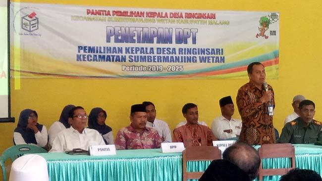 Camat Sumawe Agus Harianto SSos MAp Beri Sambutan. (H Mansyur Usman/Memontum.Com)