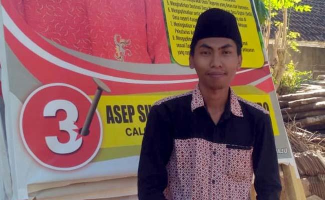 TIGA : Asep Suriaman Cahyo Saputro Cakades Telogorejo Nomor Urut 3.(ist)