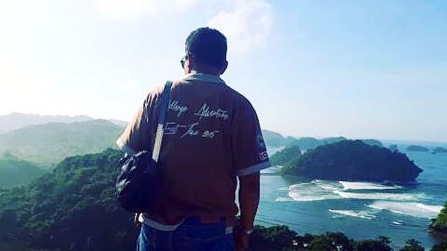 PANTAI : Teluk Asmara salah satu obyek wisata Desa SITIARJO. (H Mansyur Usman/Memontum.Com)
