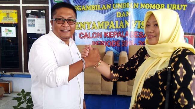 H Edin Krisbiantoro Bersama Nunuk Thomimah Dalam Penyampaian Visi Misi Beberapa Waktu Lalu. (dok)