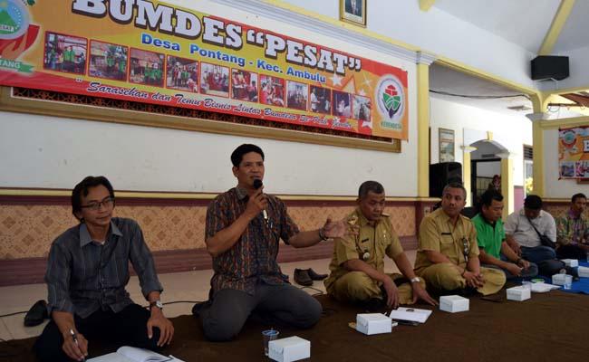 Sejumlah Pengurus Bumdes Study Banding di Desa Pontang