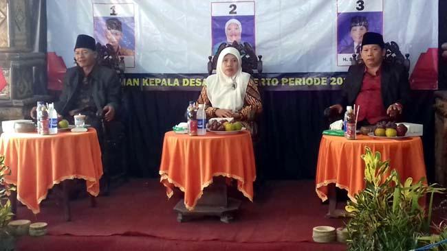 PROSES : Pelaksanaan Pilkades Sanankerto Kecamatan Turen. (ist)