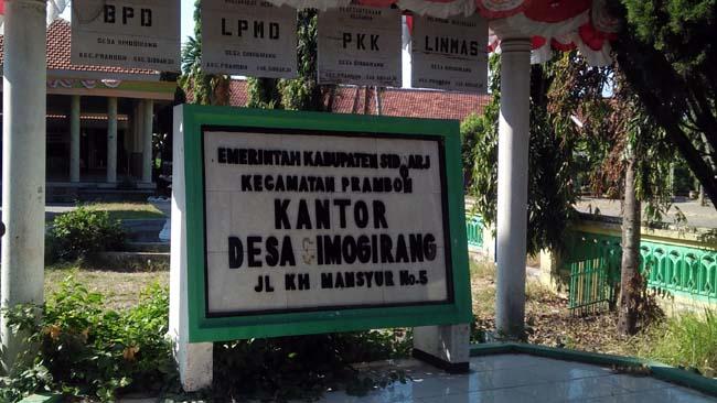 Kantor Desa Simogirang Kecamatan Prambon. (par)